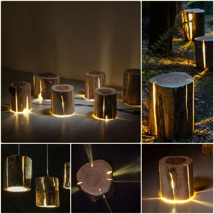Baumstamm m bel ausgefallene designer leuchten von duncan for Baumstamm wohnzimmertisch
