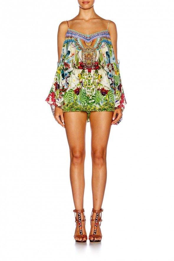 3b4b7fd9040 boutique flirt - Camilla Exotic Hypnotic Drop Shoulder Playsuit