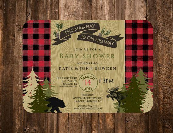 lumberjack invitations