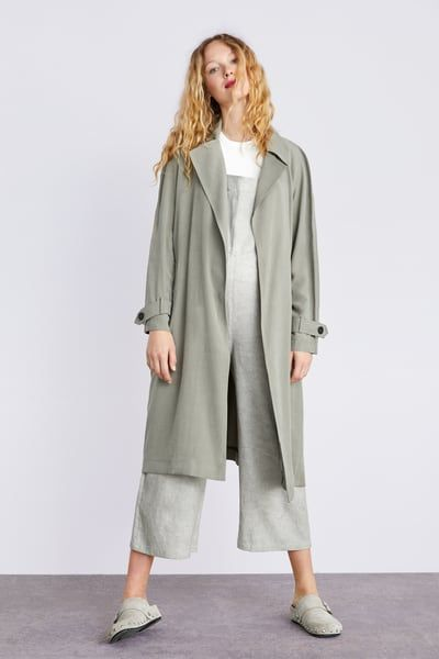 8204f47994 Flowy trench coat with pockets in 2019 | Products | Coat, Pocket, Trench