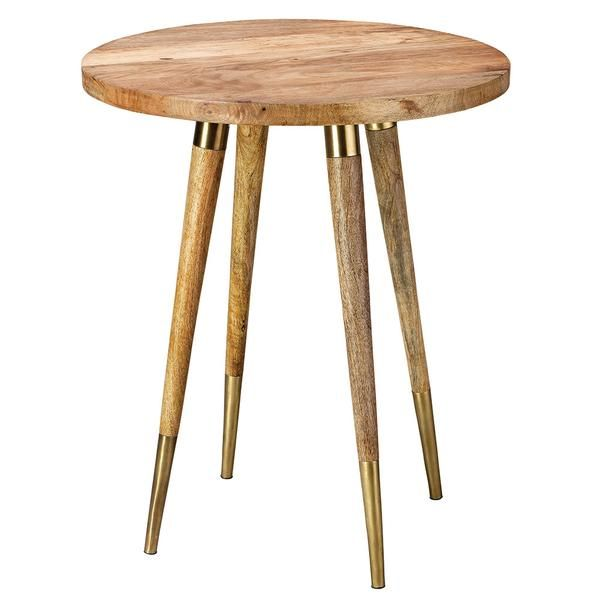 natural wood brass round side table in 2019 new now table rh pinterest com