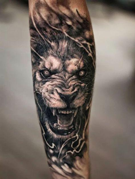 Pin De Moises Aguilar En Tatuajul Meu Tatuajes De Leon Tatuaje De Tigre Tatuaje De Rinoceronte