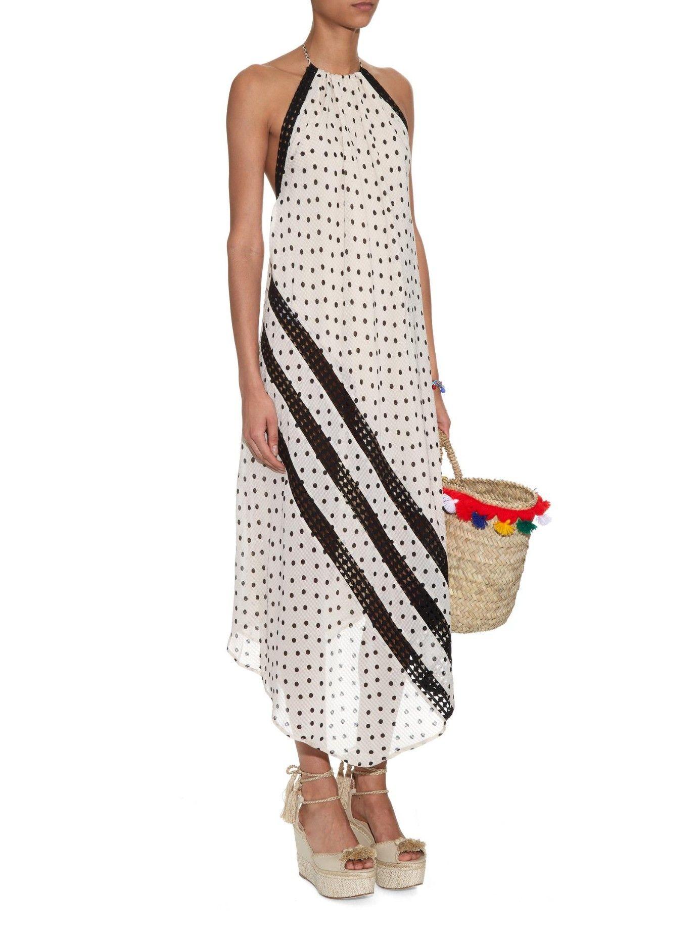 5db40d72167b45 Positano Melanie halterneck dress
