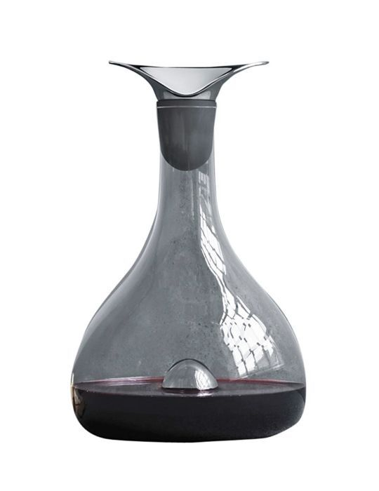 Glass And Stainless Steel Wine Carafe