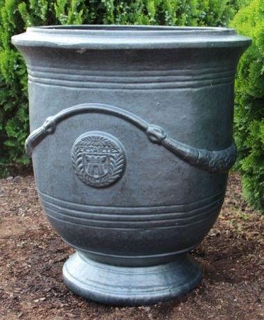 French style urn graphite glaze urn graphite and french style french style urn graphite glaze garden potsinteriors onlinefrench workwithnaturefo
