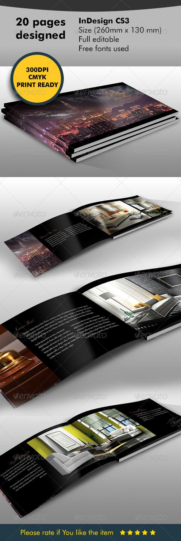 Brochure - Catalog Hotel | Brochures, Template and Photography logos