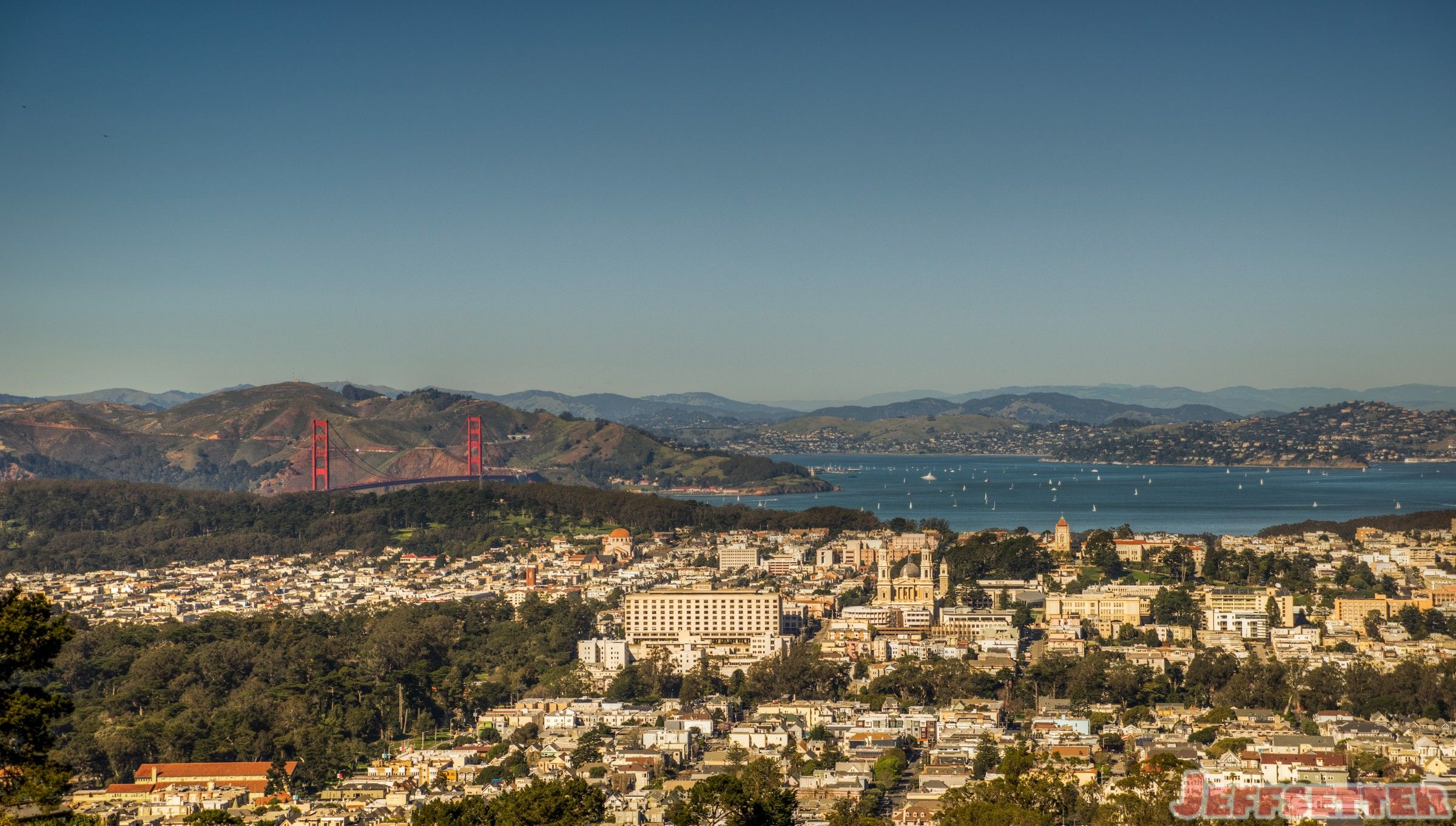 View of the Golden Gate from Twin