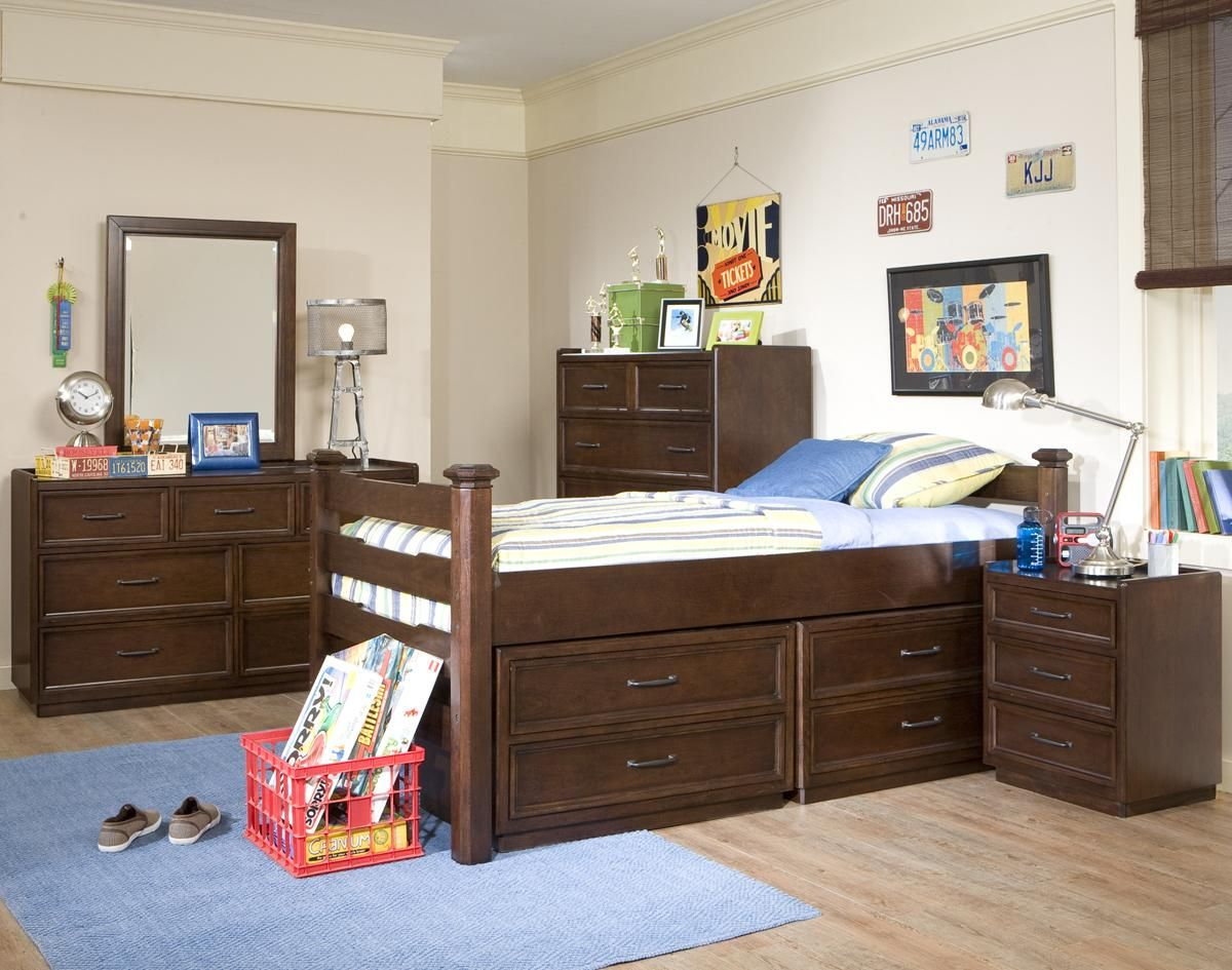 Solutions Twin Slat Captain Like Bed with 2