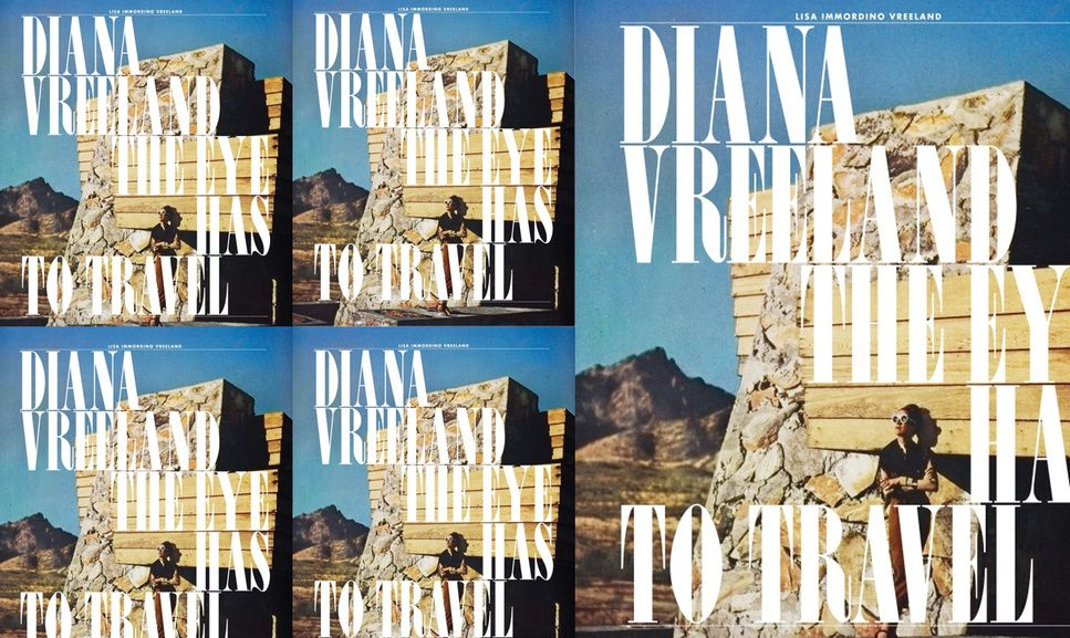 DIANA VREELAND - Columnist and editor in the field of fashion working for  Harper's Bazaar, Vogue...