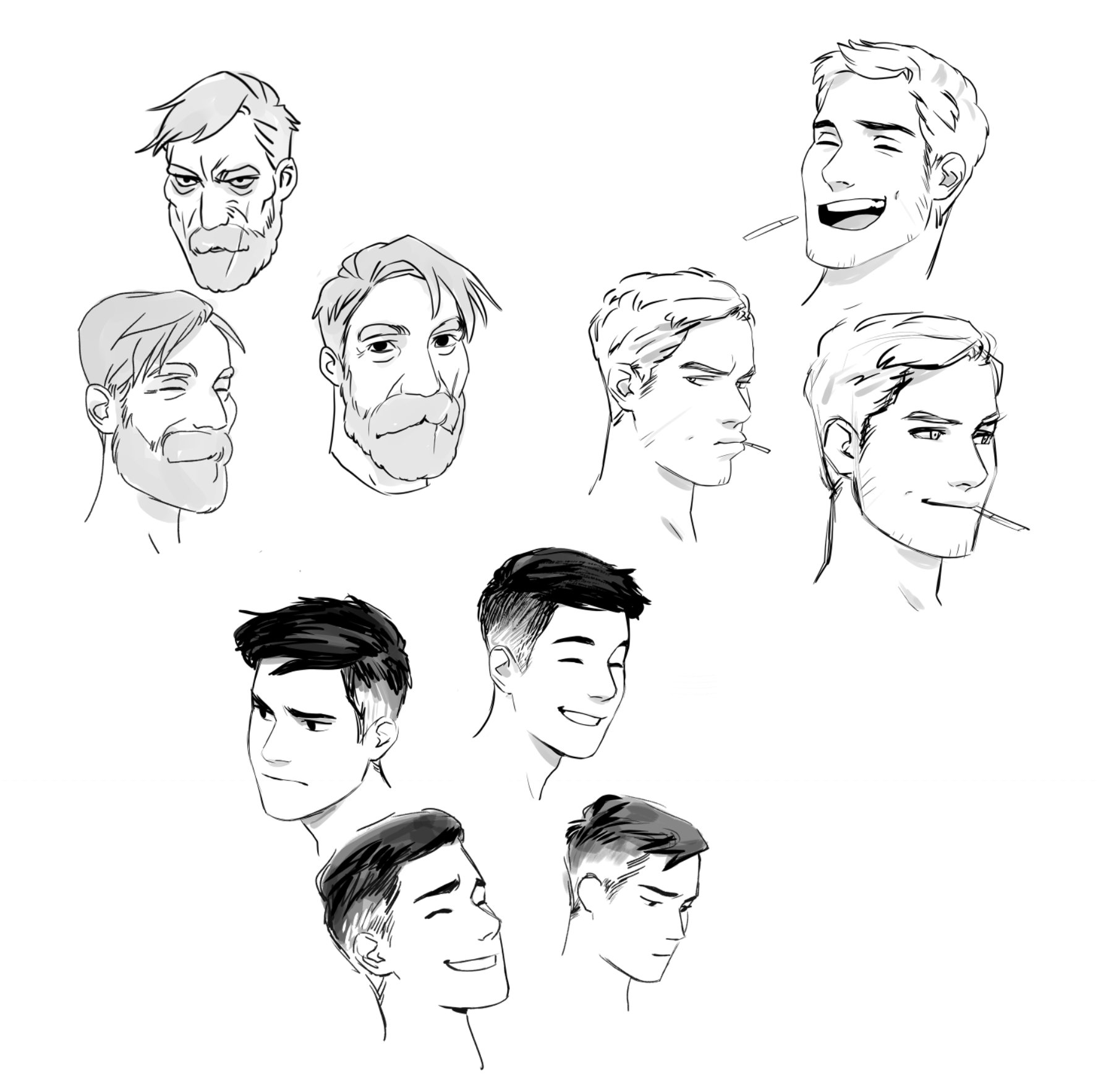 Pin By Gordonisnext On Art Guy Drawing Face Drawing Human Face Drawing