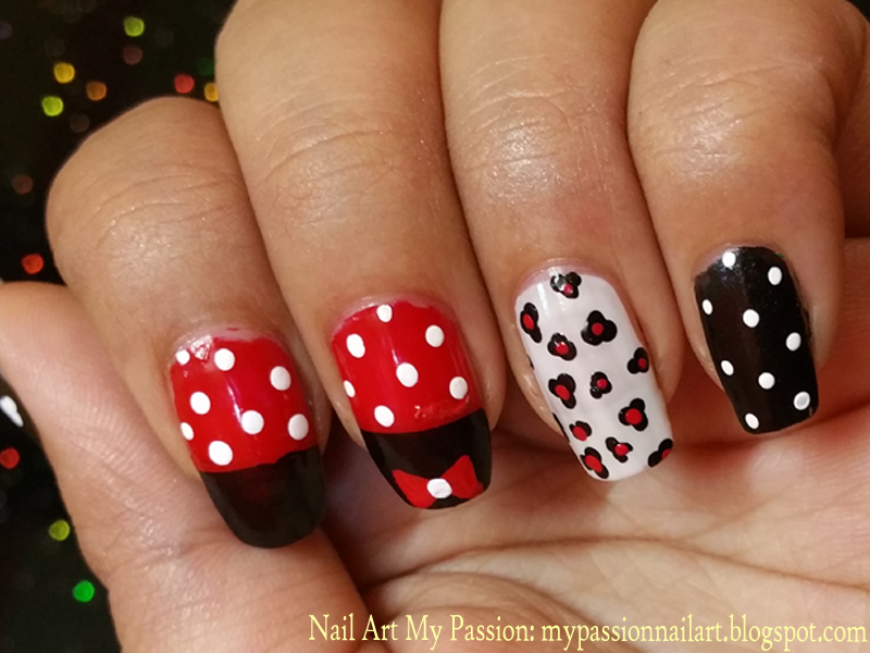 Nail Art My Passion: Tutorial 10: Mickey Mouse Nails | Nail Art ...