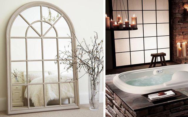 C mo decorar casas con espejos ventanal bathroom pinterest - Como decorar espejos ...