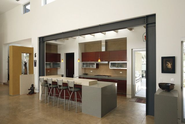 Metal Ceiling Support Beams: Kirk Says: I Love The Steal Beams Used In The Wall Opening