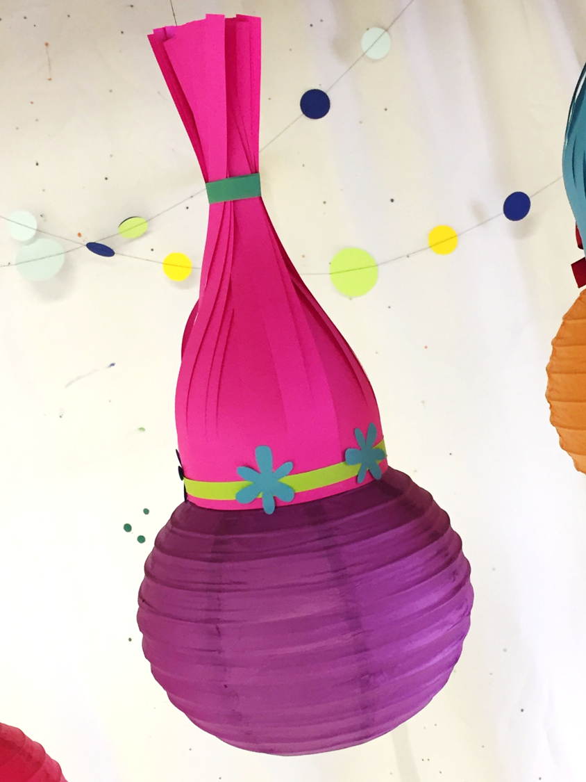 DIY Trolls paper lanterns tutorial Perfect for