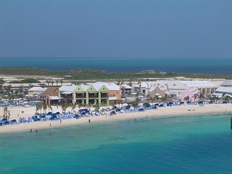 View of the southwestern beach at Grand Turk Island, Turks and Caicos Islands