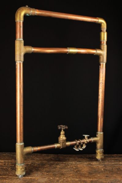 yorkshire copper and brass heated towel rail - Heated Towel Rack