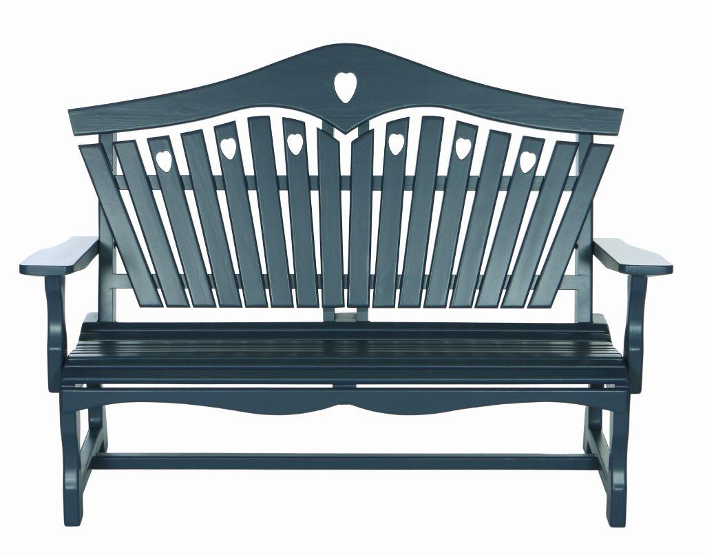heart back garden bench painted in farrow ball stiffkey blue see rh pinterest com
