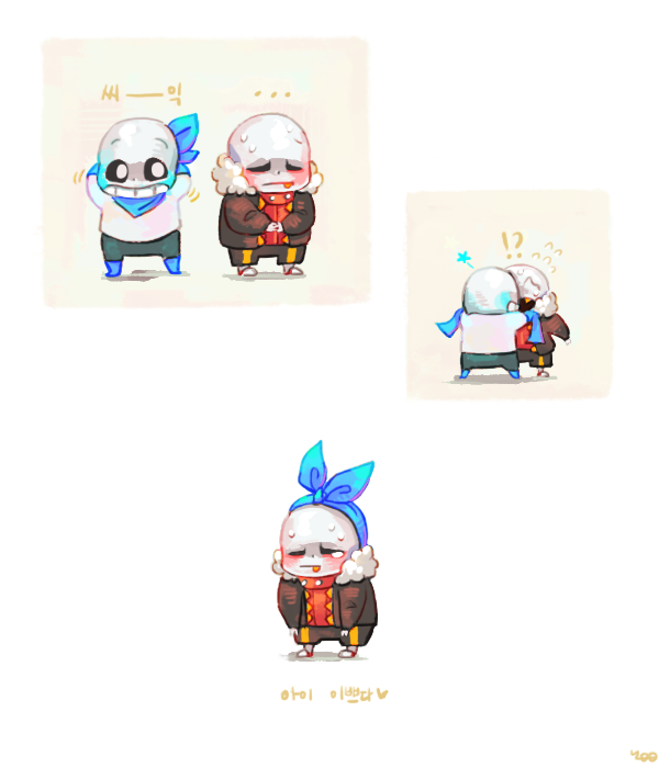 This adorable  Underswap and Underfell Sans - yoo on tumblr | Cute
