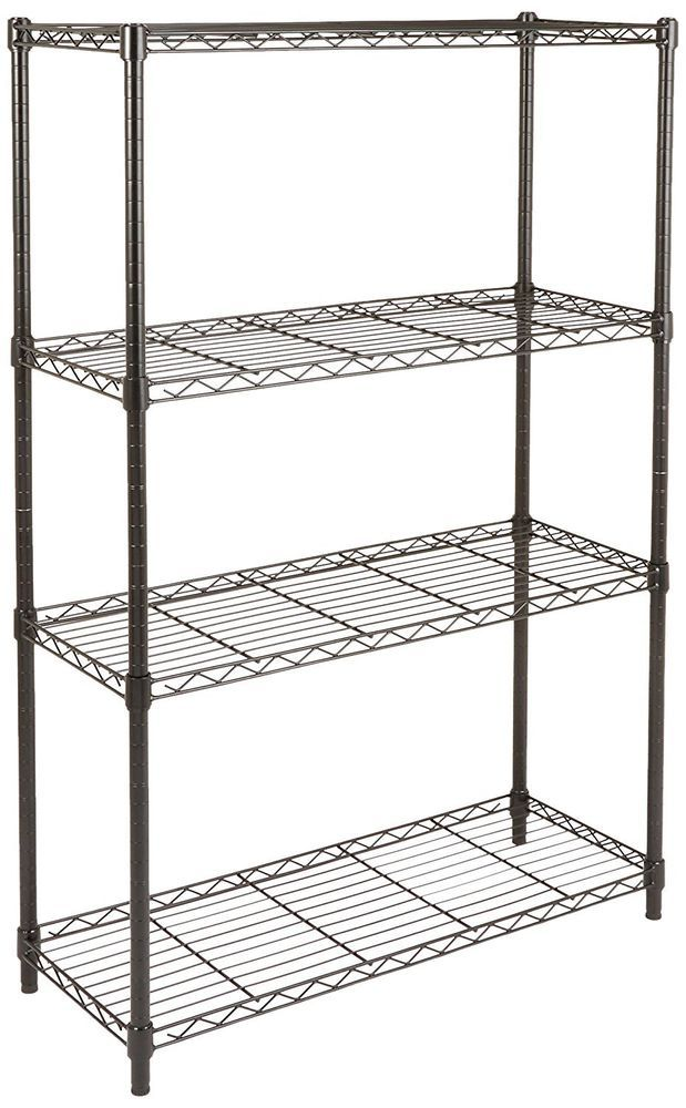 4 tier shelf wire rack storage organizer shelves durable steel frame rh pinterest de