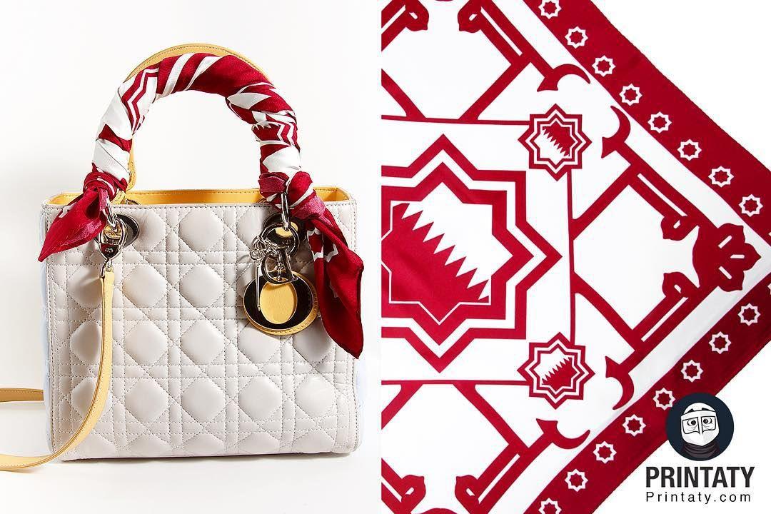 علامة تجارية مستوحاة من تراثنا On Instagram شال انا قطري شال حرير بحجم ٦٨ ٦٨ سم السعر ١٣٥ ريال قطري ال Dior Bag Lady Dior Bag Lady Dior