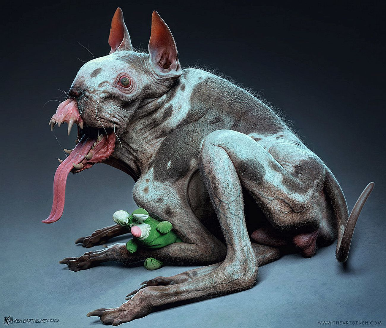 BY: ken Barthelmey.......Puppy........ Zbrush and Modo........Click on image to enlarge....