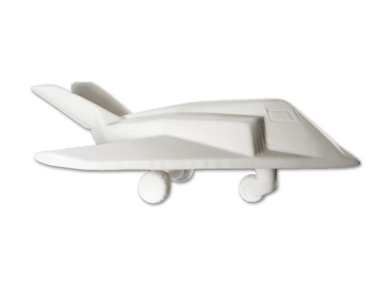 Unfinished Low-Fire Ceramic Bisque Paint-a-Potamus Paint Your Own Ceramic Stealth Fighter
