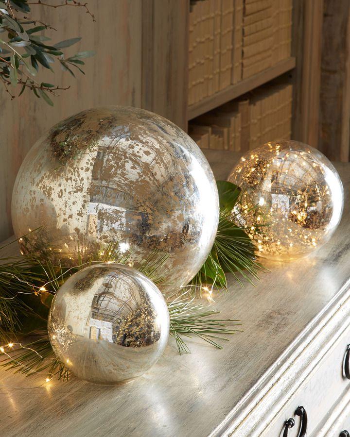 Mercury Glass Spheres Mercury Glass Christmas