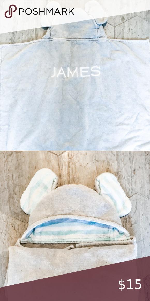 Pottery Barn Kids Elephant Towel Monogram James In 2020