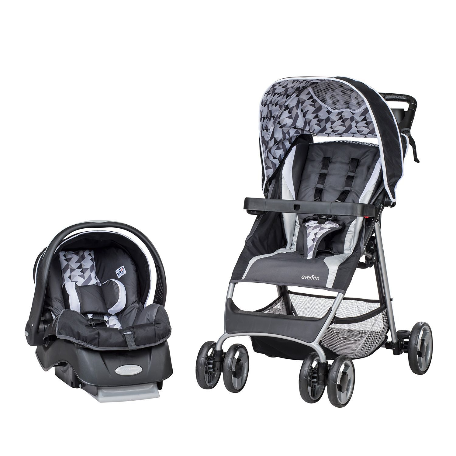 Evenflo Flexlite Travel System With Embrace Infant Car Seat Raleigh