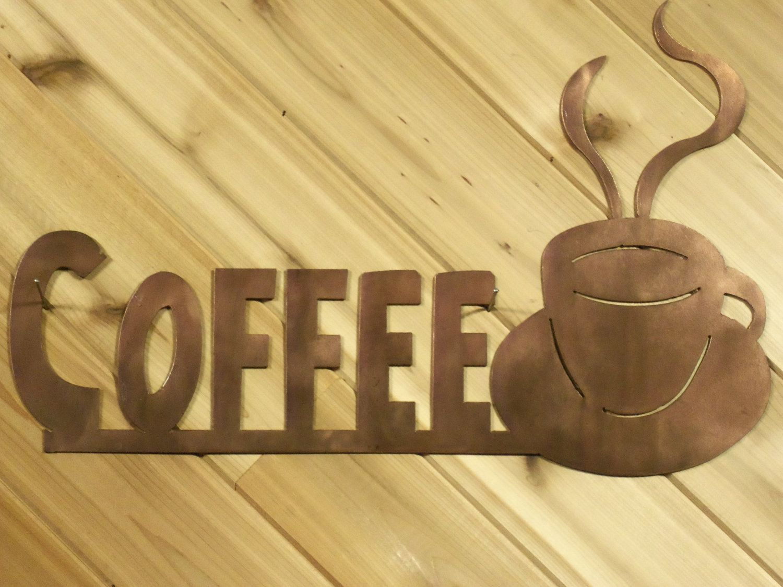 Metal Wall Words Metal Wall Art Coffee Cup By PrecisionCut. $21.99 ...