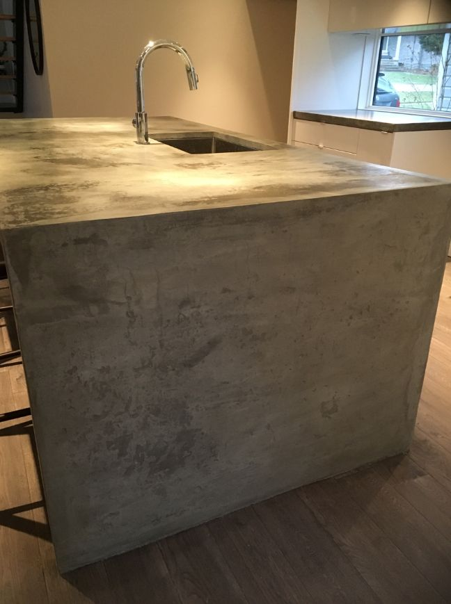 waterfall concrete countertop concrete countertops pinterest rh pinterest co uk