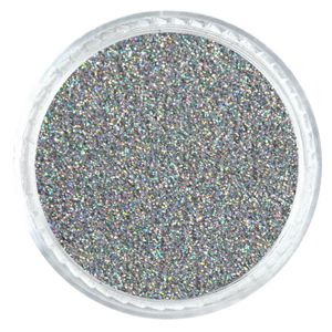 Silver Holographic Jewel 008 Fine Glitter Powder Solvent