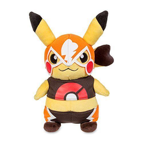 Pokken Tournament Pokemon Masked Pikachu Libre Soft Stuffed Plushie Doll Gift