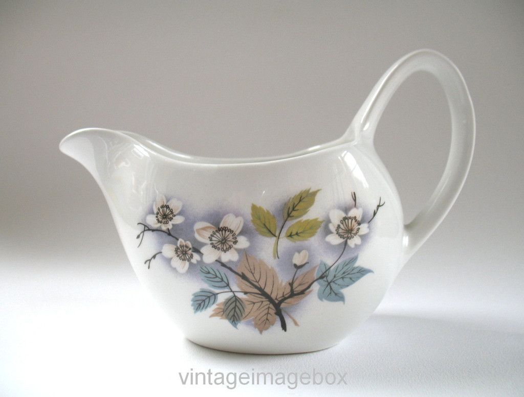MIDWINTER Orchard Blossom Jug vintage Staffordshire pottery 1960s Mid Century tableware & MIDWINTER Orchard Blossom Jug vintage Staffordshire pottery 1960s ...