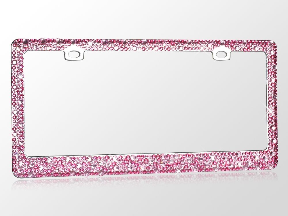 Pink Rhinestone Crystal Auto License Plate Frame Girly Bling   my ...