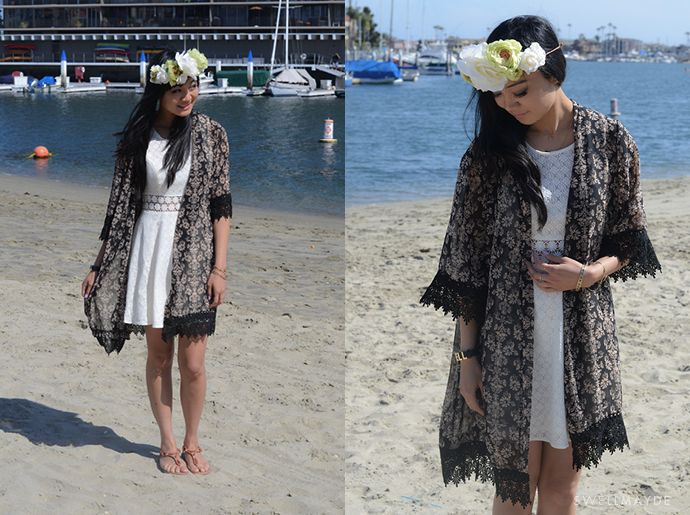 swellmayde: DIY | LACE TRIM COVER-UP
