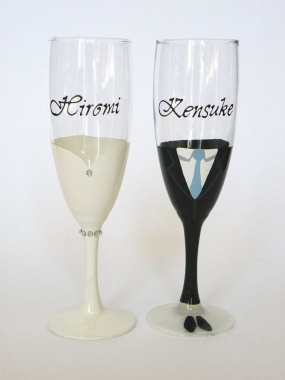 Hey I Found This Really Awesome Etsy Listing At Http Www 85111970 Hand Painted Wedding Toasting Flutes Set