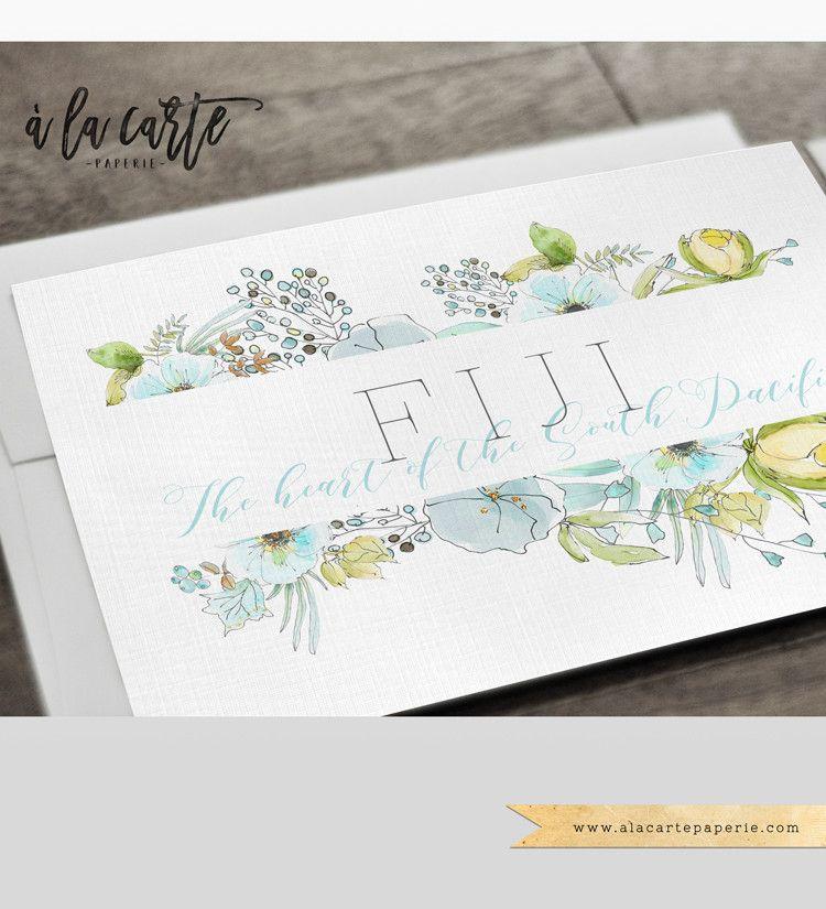 Fiji Pacific Islands Destination Wedding Invitation Set Tahiti | A ...
