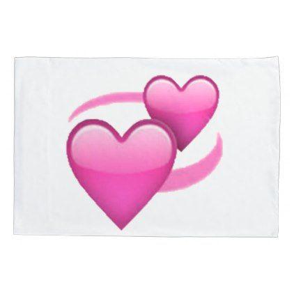 #Revolving Hearts - Emoji Pillow Case - #Pillowcases #Pillowcase #Home #Bed #Bedding #Living