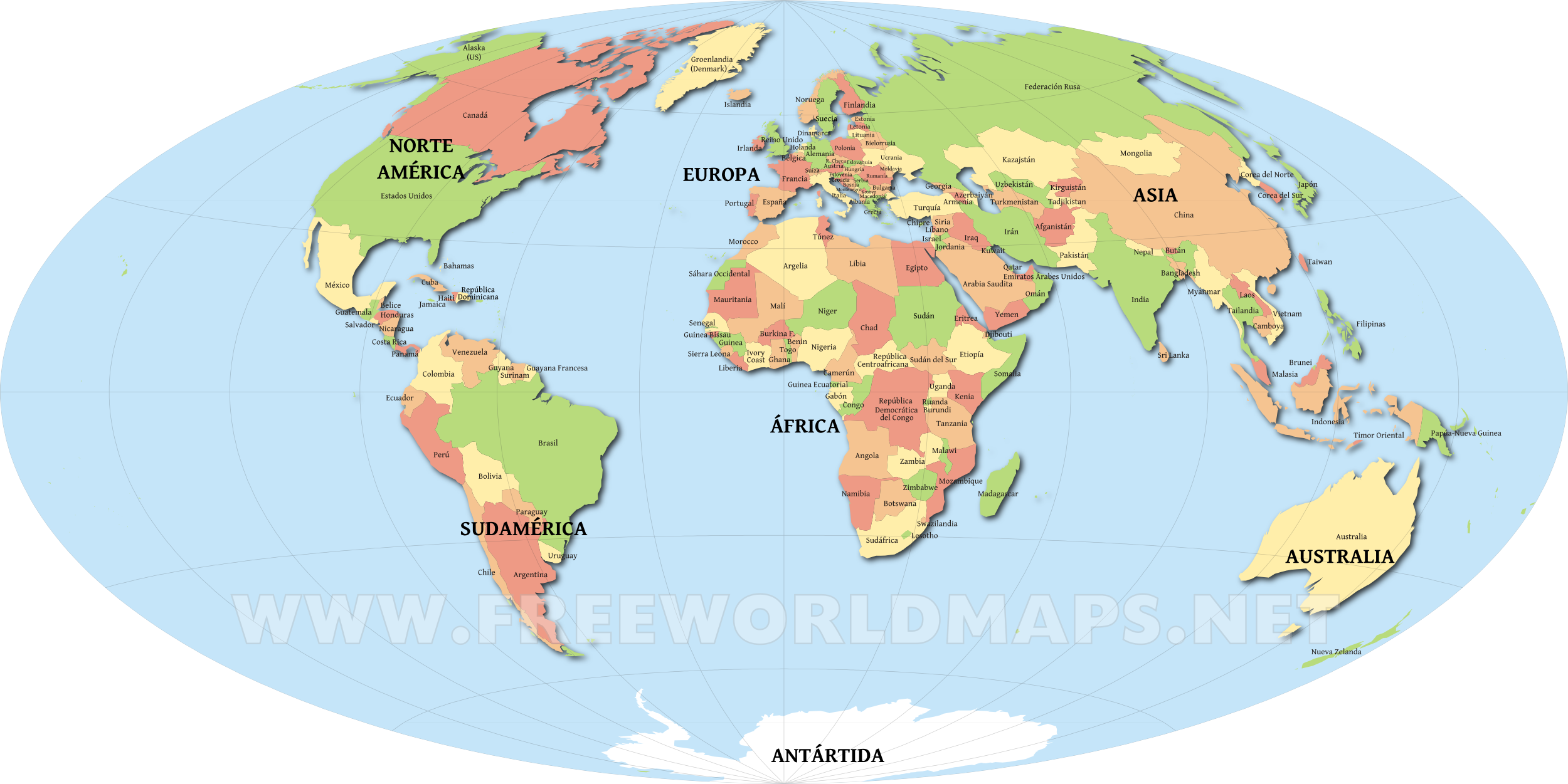 mapamundi con nombres de paises  ALOjamiento de IMgenes