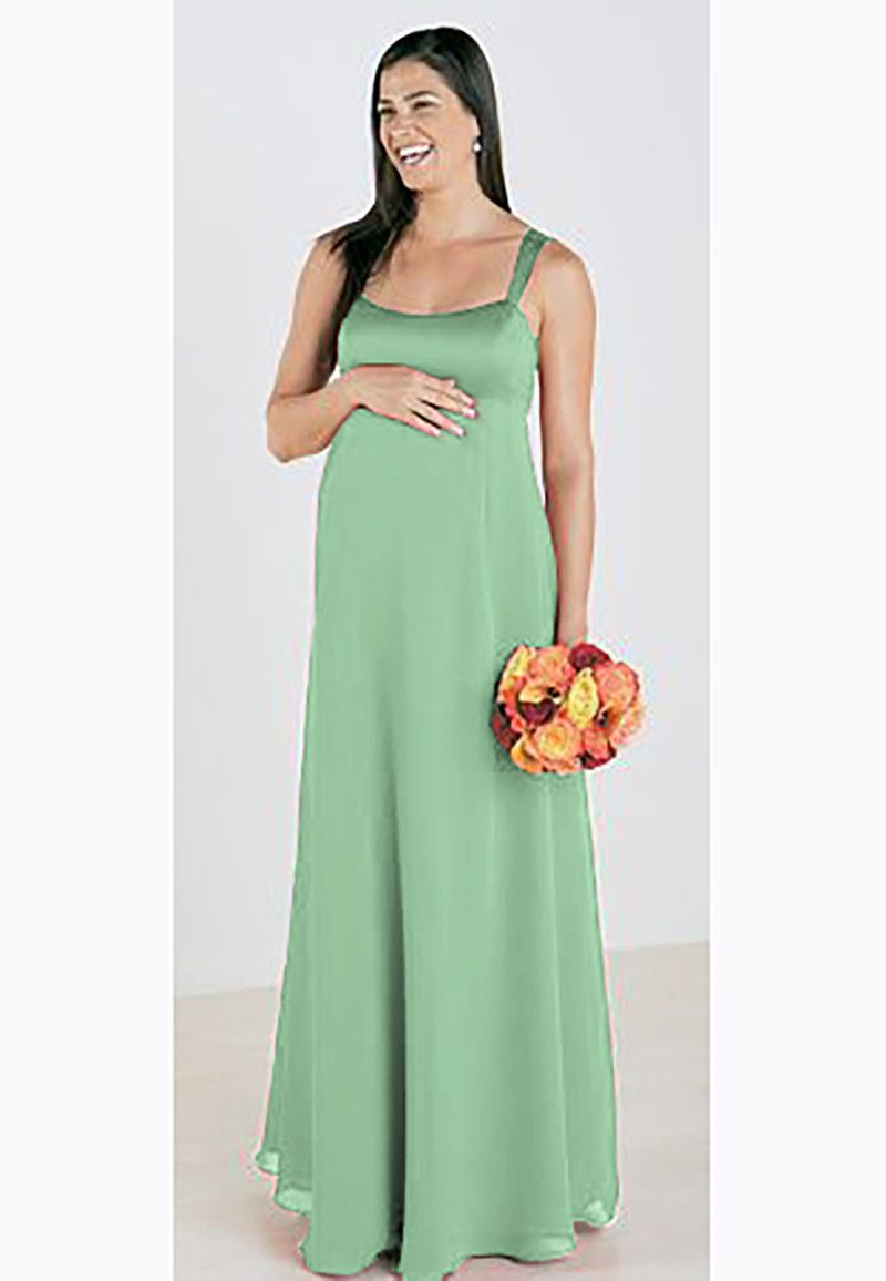 Lulus wedding guest dresses  Click to Buy ucuc Lace up back Sage green straps chiffon Maxi Dress