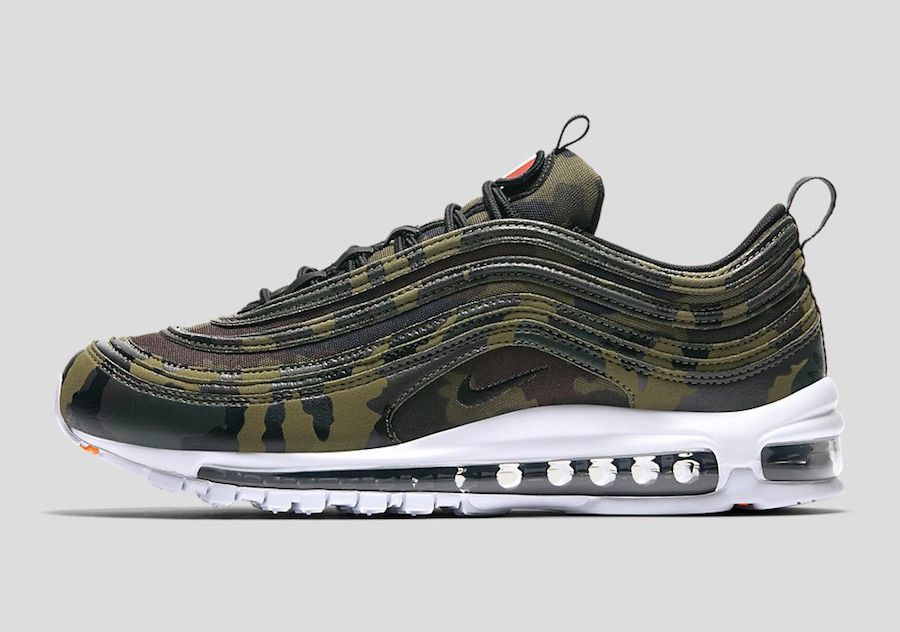 Perhaps as a final farewell to the Air Max 97 in Nike is scheduled to  release a set of camo-print styles of the popular retro running silhouette.