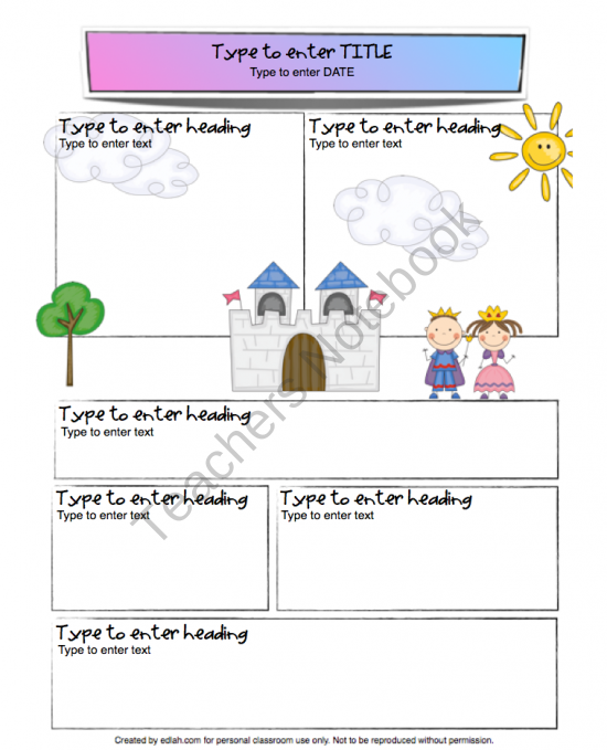 5th grade newsletter template - kings and queens newsletter template from edlah preschool
