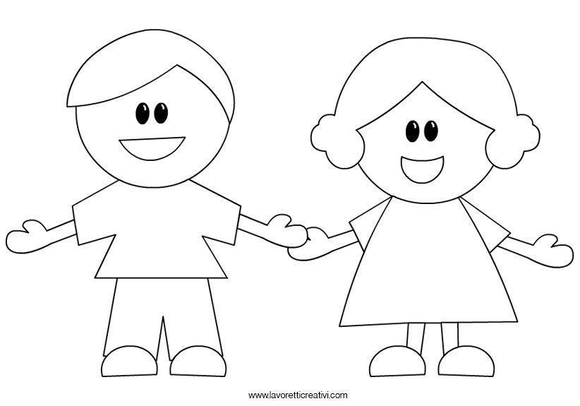 Disegni Da Colorare Di Bambini Che Si Tengono Per Mano.Bambini Che Si Tengono Per Mano Disegni Bambini Bambini Attivita Del Corpo Umano