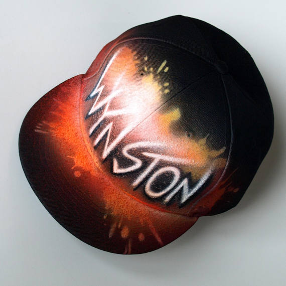 a7cd26fedcf67 Custom painted Snapback cap Graffiti airbrushed hat with your