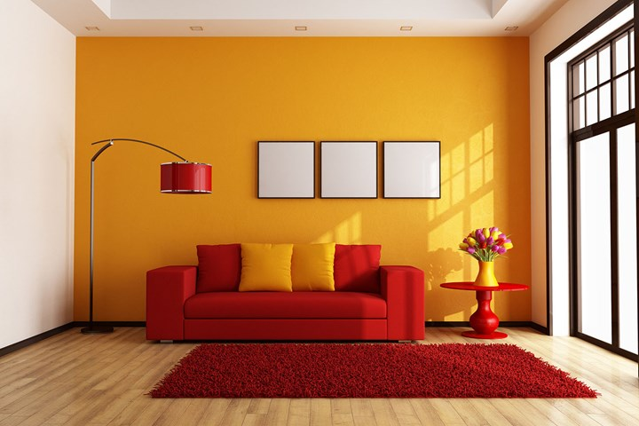 Colours That Go With Red The Best Red Colour Combinations Better Homes And Gardens In 2020 Living Room Orange Living Room Red Living Room Color #red #and #orange #living #room