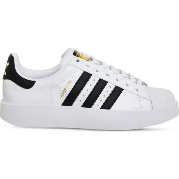 finest selection 405a2 f0c3c Adidas Superstar Bold leather trainers (85) ❤ liked on Polyvore featuring  shoes, sneakers, leather platform shoes, genuine leather shoes, adidas shoes,  ...