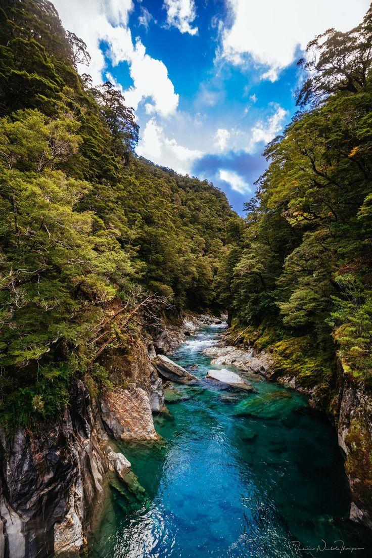 The Blue Pools New Zealand  #newzealand