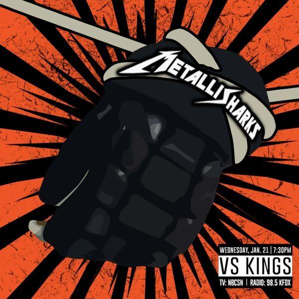 It's Kings-Sharks Rivalry Night in San Jose; it is also Metallica ...