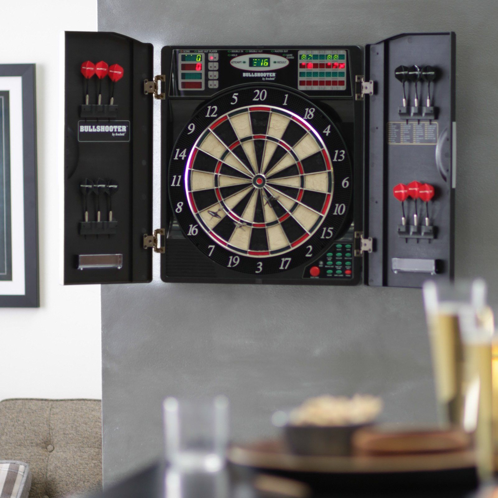 20 Electronic Dart Board Cabinet Kitchen Design and Layout Ideas